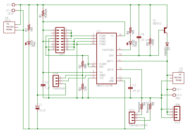 Schemi Elettrici Cad : Ideegeniali progetti nimh fast charger